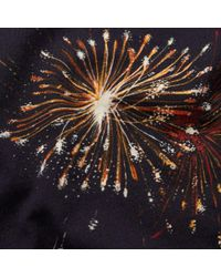 Valentino - Blue Fireworks Print Tee for Men - Lyst