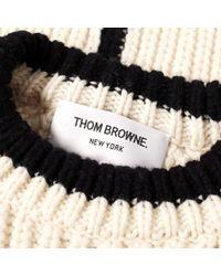 Thom Browne - Multicolor 4 Bar Stripe Rib Merino Crew Knit for Men - Lyst