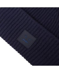 Acne - Blue Pansy L Face Beanie for Men - Lyst