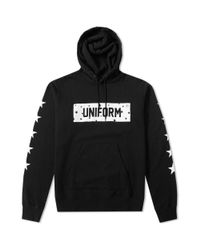 Uniform Experiment - Black Star Sleeve Hoody for Men - Lyst