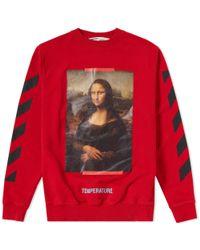 Off-White c/o Virgil Abloh - Red Monalisa Sweatshirt for Men - Lyst