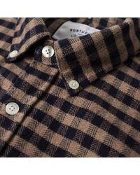 Portuguese Flannel - Brown Castanha Button Down Check Shirt for Men - Lyst