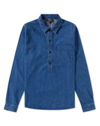 A.P.C. - Blue Duke Popover Shirt for Men - Lyst