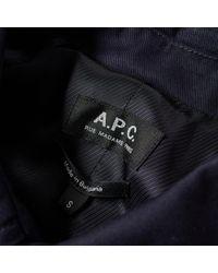 A.P.C. - Blue City Mac for Men - Lyst