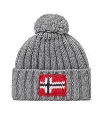 Napapijri | Gray Semiury Bobble Hat for Men | Lyst