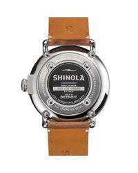 Shinola - Brown Runwell 47mm Watch for Men - Lyst