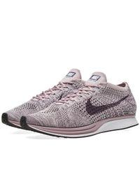70e3230694624 Nike Flyknit Racer in Purple for Men - Lyst