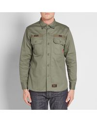 (w)taps - Green Buds Hbt Shirt for Men - Lyst