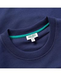 KENZO - Blue Tiger Face Crew Sweat for Men - Lyst