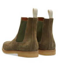 Common Projects - Green Chelsea Boot Suede for Men - Lyst