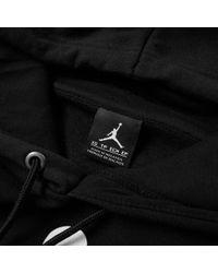 Nike - Black Nike Jordan Flight Fleece Jumpman Air Pullover Hoody for Men - Lyst