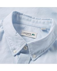 Lacoste - Blue Button Down Oxford Shirt for Men - Lyst