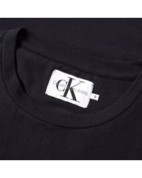 Calvin Klein - Black Monogram Chest Badge Logo Tee for Men - Lyst