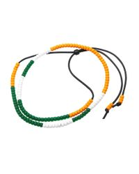 Neighborhood - Yellow Luker By Mixed Bead Necklace - Lyst