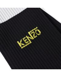 KENZO - Black Stripes Sock for Men - Lyst