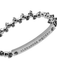 Alexander McQueen - Metallic Mini Skull Bracelet for Men - Lyst