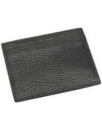 Balmain - Black Leather Card Holder for Men - Lyst