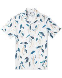 Paul Smith - Blue Botanical Print Short Sleeve Shirt for Men - Lyst