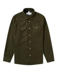Soulland - Green Tom Flannel Shirt for Men - Lyst