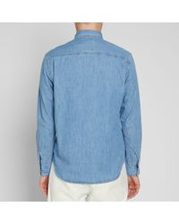Bleu De Paname Blue Work Shirt for men