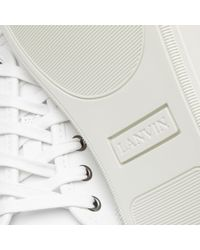 Lanvin - White Leather Sneakers - Lyst