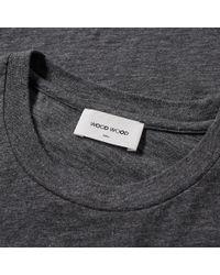 WOOD WOOD - Gray Slater Logo Slub Tee for Men - Lyst