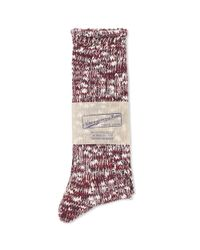 Anonymous Ism - Red Slub Crew Socks for Men - Lyst