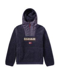 Napapijri - Blue Teide Sherpa Jacket for Men - Lyst