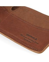 Shinola - Brown Bi-fold Wallet for Men - Lyst