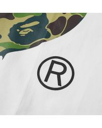 A Bathing Ape | White Abc Camo Side Big Ape Head Tee for Men | Lyst