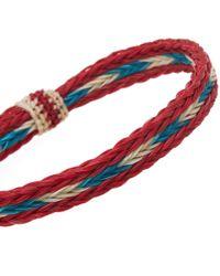 Chamula - Red Braided Horsehair Bracelet for Men - Lyst