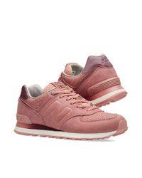 New Balance - Pink Wl574gry - Lyst