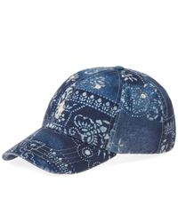 32d16259f6632e Polo Ralph Lauren - Blue Classic Moroccan Tile Baseball Cap for Men - Lyst