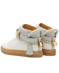 Buscemi - White 100mm Canvas High Sneaker for Men - Lyst