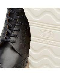 GRENSON - Black Fred V Brogue Boot - Lyst