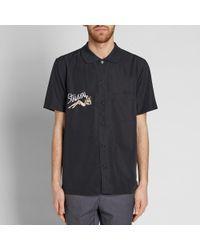 Stussy - Black Short Sleeve Garage Jacket for Men - Lyst