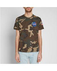 Alpha Industries - Green Space Shuttle Tee for Men - Lyst