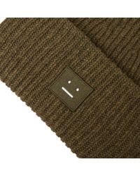 Acne - Green Pansy W Face Beanie for Men - Lyst