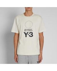 Y-3 - White Stacked Logo Tee for Men - Lyst