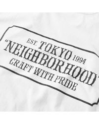 Neighborhood - White Bar & Shield Tee for Men - Lyst