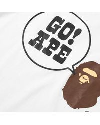 A Bathing Ape - White Go Ape Tee for Men - Lyst