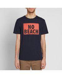 WOOD WOOD - Blue No Beach Tee for Men - Lyst