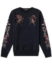 Alexander McQueen - Black Pegasus Embroidered Sweat for Men - Lyst