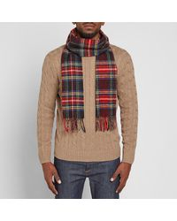 Barbour - Black Tartan Scarf for Men - Lyst