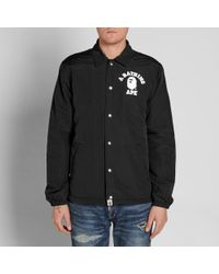 f8640ec3c8d9 Lyst - A Bathing Ape College Coach Jacket in Black for Men