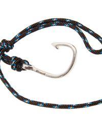 Miansai - Blue Silver Hook Rope Bracelet for Men - Lyst