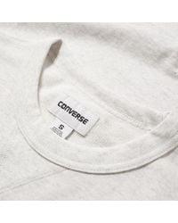 Converse   White Essentials Short Sleeve Crew Sweat for Men   Lyst