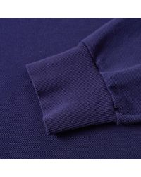 C P Company - Blue Long Sleeve Patch Logo Polo for Men - Lyst
