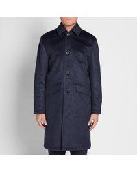 Our Legacy - Blue Splash Pressed Cilium Carcoat for Men - Lyst