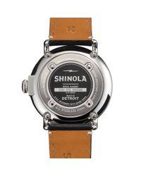 Shinola - Black Runwell 47mm Watch for Men - Lyst